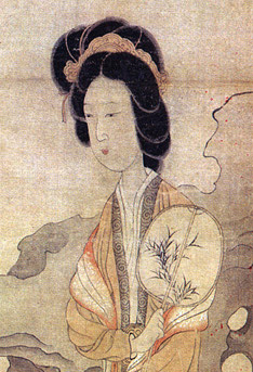 Chen Hongshou, Appreciating Plums, detail