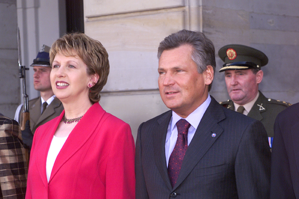 Aleksander Kwasniewski and Mary McAleese