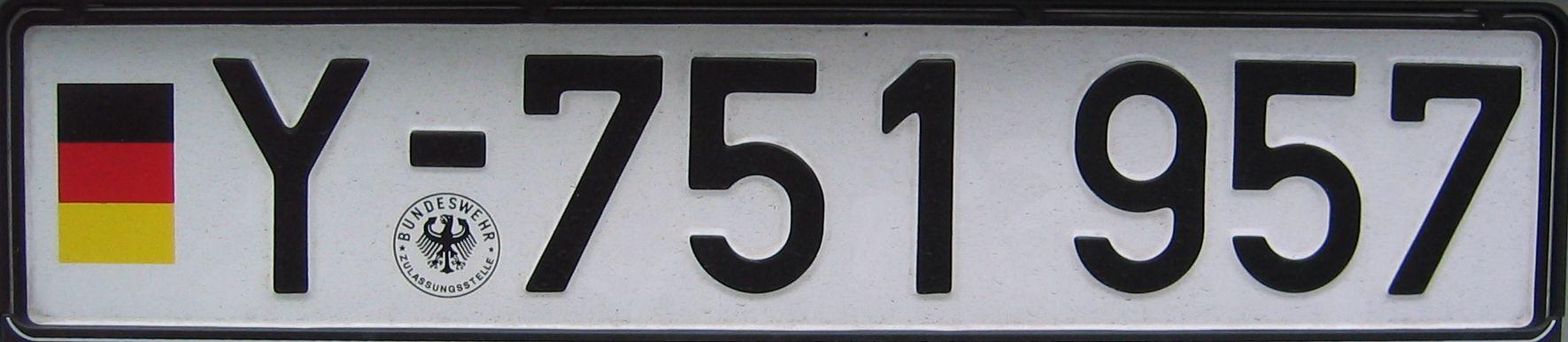 Deutsches Bundeswehr Kfz Kennzeichen German car number plates Facts