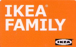 IKEA Family card from Canada