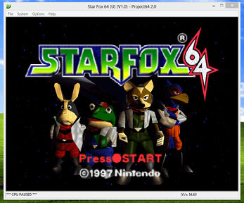 StarFox64 Emulated with Project64