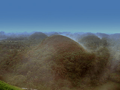 Fog Covers Chocolate Hills