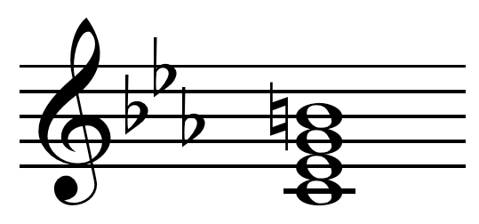 Minor major seventh chord on C