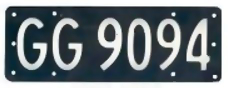 New zealand license plate gg