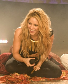Shakira Stops By Soundcheck cropped