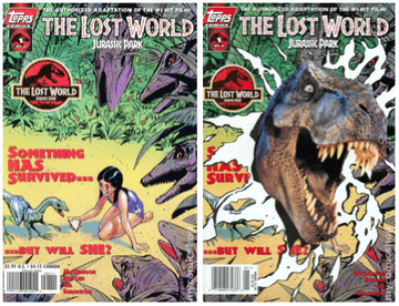 The Lost World Topps Issue 1 covers