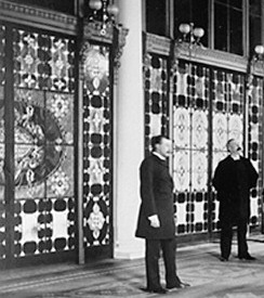 White House entrance-hall Tiffany screen 1882 crop