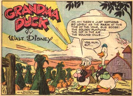 Grandma Duck and Gus Goose by Frank Savage