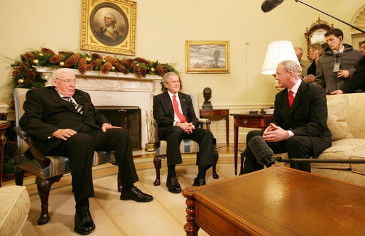 W. Bush and Martin McGuinness