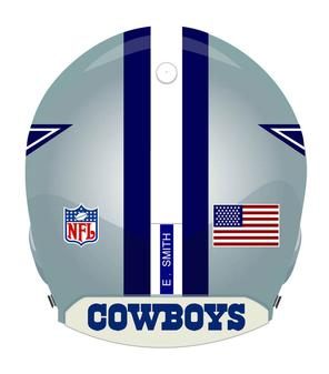 Dallas Cowboys helmet Back