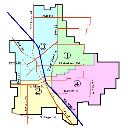 Medford, Oregon Ward Map