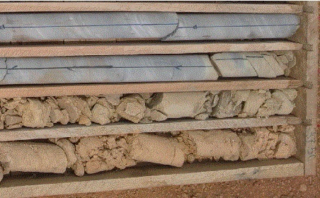Weathered limestone cores