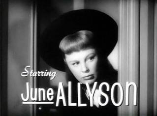 June Allyson in Too Young To Kiss trailer