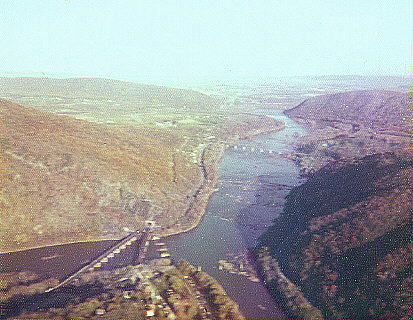 Harpers Ferry WV aerial