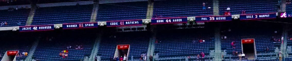 New retired braves numbers