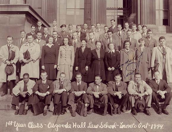 1st year class - Osgoode Hall Law School - Toronto Ont - 1944