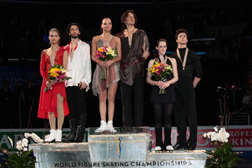 2009 WC Ice Dancing Podium