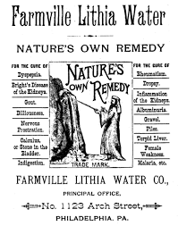 Farmville Lithia Springs Water Advertisement from Philadelphia.png