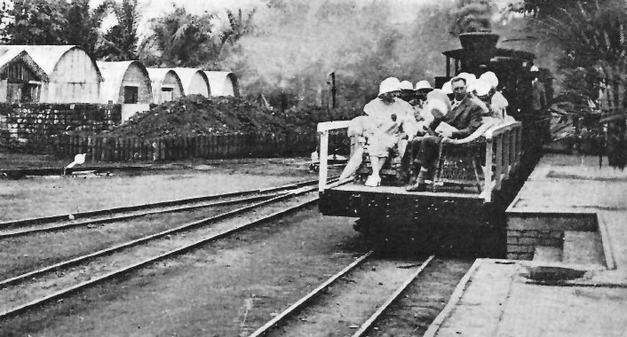King Albert on one of the first trains of the Belgian Congo