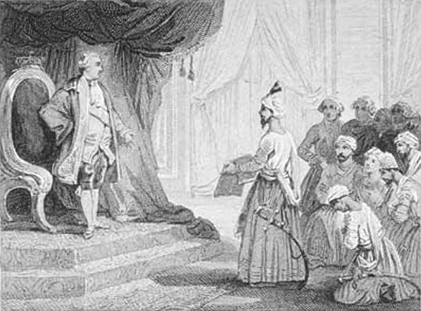 Louis XVI Receives the Ambassadors of Tipu Sultan 1788 Voyer after Emile Wattier 19th century