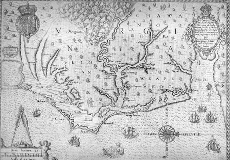 First map to label Chesapeake Bay