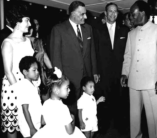 Nkrumah, his family and Nasser, 1965