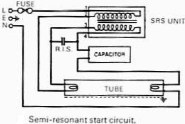 Semi resonant start circuit