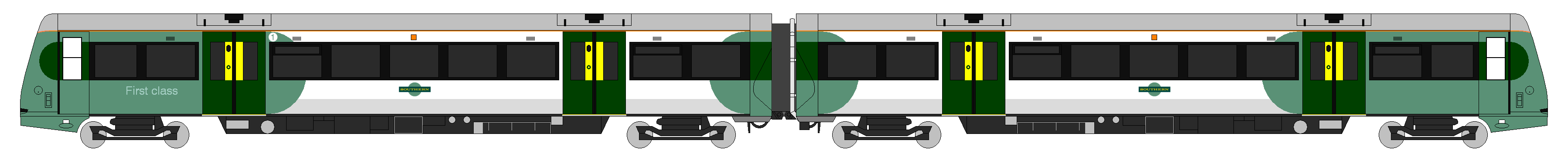 Class 171 Southern Diagram