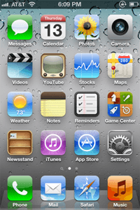 IOS 5 home screen