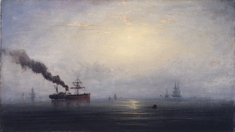 Brooklyn Museum - Foggy Morning on the Thames - James Hamilton - overall