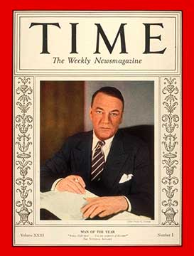 1933 Time Man of the Year cover