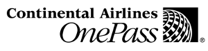 Continental Airlines OnePass logo
