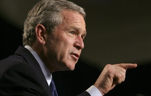President George W. Bush discussing Social Security
