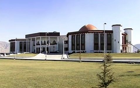 Afghan parliament building 2015