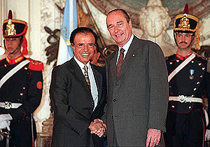 Jacques Chirac with Carlos Menem