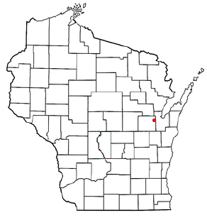 Location of Oneida (town), Wisconsin