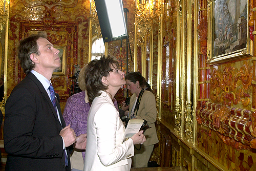 Tony Blair in the Amber Room