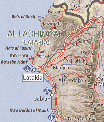 Latakia Governorate map