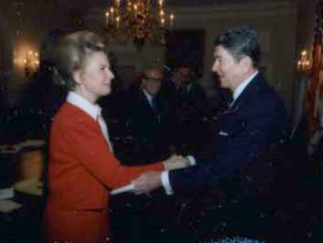 Phyllis Schlafly and Ronald Reagan