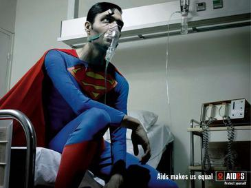 A thin Superman with AIDS