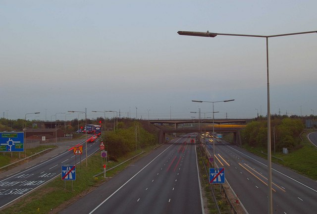 Dusk on the M25 - geograph.org.uk - 397818