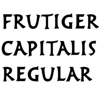 Frutiger capitalis regular cropped