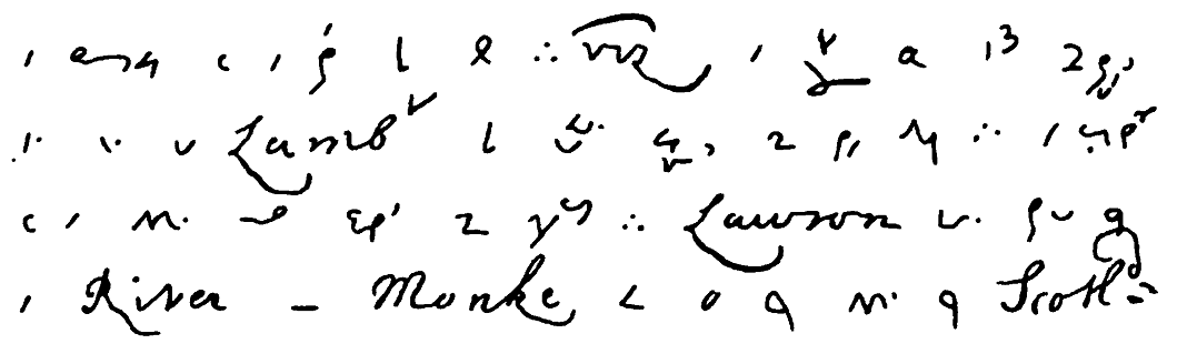 Pepys diary shorthand