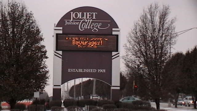 Joliet Junior College Sign
