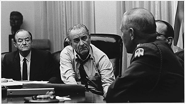 Hubert Humphrey and Lyndon Johnson