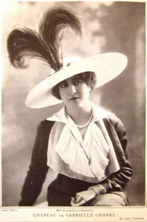 Chanel hat from Les Modes 1912