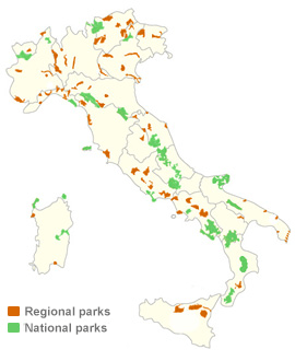Italy natural parks