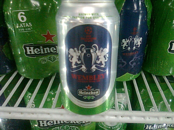 Heineken can 2011 UEFA Champions League Final