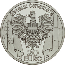 2003 Austria 20 Euro The Post-War Period front