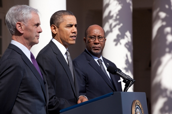 Barack Obama with John Bryson and Ron Kirk
